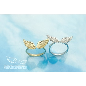 Cute Wings Unique Adjustable Thin Band Ring for Women