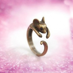 Lovely Mouse Costume Jewelry Animal Rings