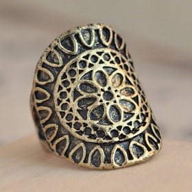 Cool Carving Antique Vintage Rings