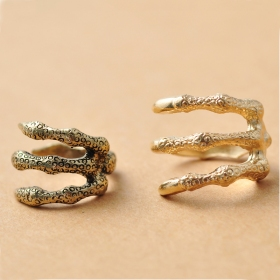 Punk Style Vintage Talon Band Ring For Women