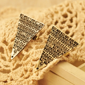 Vintage Punk Geometrical Gold Plated Alloy Band Ring