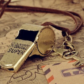 Vintage Whistle Shape Ladies' Personalized Chain Necklace