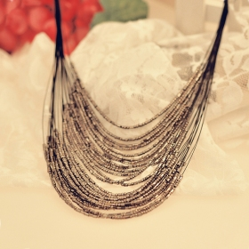 Old Fashioned Bohemia Designed Bid Chock Necklace