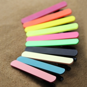 Simple  Frosted Duck Tongue Alloy Hair Clip