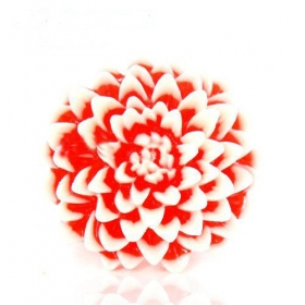 Bold Fashion Chic Big Red Flower Cocktail Ring