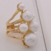 Women Luxury Antique Vintage Pearl Rings