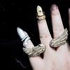 Vintage Jewelry Punk Personalized Cool Wings Double Finger Ring