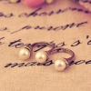 Antique Simple Pearl Double Rings for Women