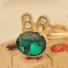 Chic Rabbit Shape Vintage Aquamarine Cocktail Ring