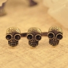 Personalized Skull Old Fashioned Double Ring