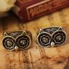 Vintage Owl Rhinestone Animal Rings