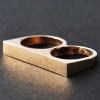 Punk Style Fashion Simple Double Band Ring