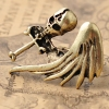 Punk Style Vintage Skull Cross Wing Band Ring