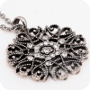Vintage Hollowed Flower Ladies' Elegant Long Chain Necklace