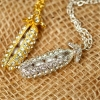 Fashion Jwelery Golden Peas Chic Ladies' Pendant Chain Necklace