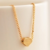 Sweet Lovely Golden Heart Pendant Chain Necklace