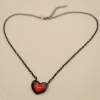 Fashion Double-Layer Red Heart Chain Pendant Necklace