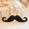European Style Lovely Black Beard Chain Pendant Necklace