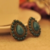 Vintage Jewelry Teardrop Gemstone Chic Stud Earrings for ladies