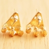 Punk Vintage Golden Owl Claw Stud Earrings