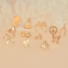European Style Vintage Golden Stud Earring