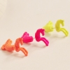 Stereo Pony Personality Lovely Fluorescent Color Metallic Stud Earrings