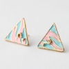 Vintage Alloy Mark Zebra Triangular Earrings