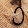 Personalized Golden Starfish Alloy Ponytail Holder