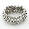 Punk Style Vintage Elastic Rivet Bangle Bracelet
