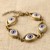 Vintage Punk The Devil's Eyes Charm Bracelet