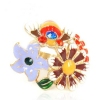 Chic Multicolor Flower Bee Cocktail Ring