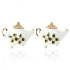 Fashion Teapot Shape Lovely Stud Earrings