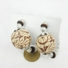 Vintage Boll Shape Drop Earrings With Rhinestone