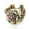 Vintage Ladies' Flower Cuff Bracelets with Rhinestone