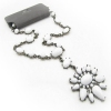 Elegant White Rhinestone Pendant Chain Necklaces