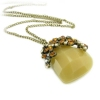 Vintage Irregular Natural Stone  Long Chain Necklace