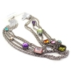 Personalized Multicolor Rhinestone Bib Necklace