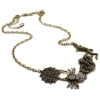 Vintage Animal Chain Necklace With Rhinestone