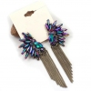 Fashion Tassel multi-color Stud Earrings with Rhinestone