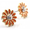 Fashion Small Flower Rhinestone Stud Earrings