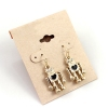 Fashion Golden Rhinestone Robot Drop Earring