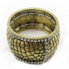 Vintage Bronze Bangle Bracelets With Rhinestone