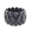 Vintage Fashion Stretch Black Bangle Bracelet