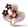 Fashion 18K GP Adiustable Flower Ring For Ladies