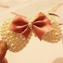 Lovely Big Butterfly Knot Pearl Hair Clips