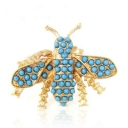 Lovely Bee Blue Beads Adjustable Fashion Animal Ring