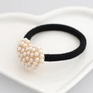 Fashion Irregular Heart Pearl Embedded Ponytail Holder