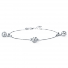 Fashion Chic Silver Hollowed Ball Charm Bracelet