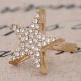 Personalized Big Star Bling Artificial Pave Diamond Band Rings