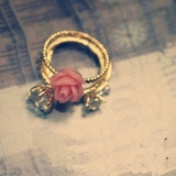 Chic Pearl Flower Artificial Diamond Flower Rings Setting